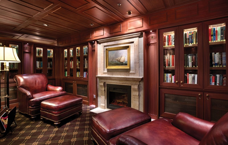 The library on Oceania Cruises' Riviera