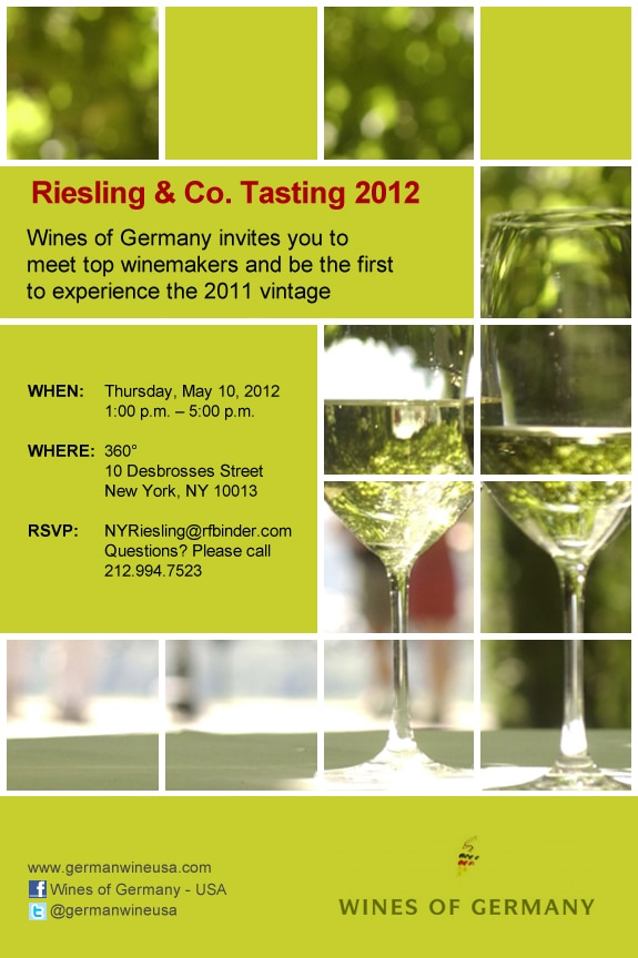 Riesling & Co. Tasting invitation