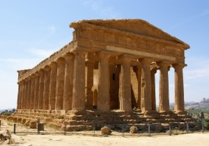 Ancient Greeks built the Temple of Concordia in Agrigento, Sicily in the 5th century BC