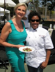 Winning chef Nyesha Arrington with Sophie Gayot