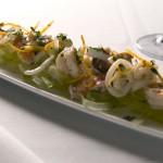 Shrimp with herb pesto