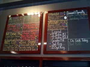 AleSmith's beer tasting menu