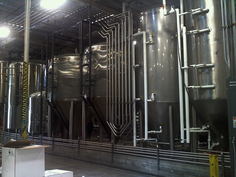 Fermenting tanks at Ballast Point Brewing & Spirits