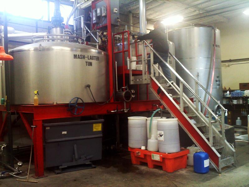 A mashing tun at Ballast Point Brewing & Spirits