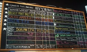 ballast point menu 300x181 Ballast Points extensive beer menu