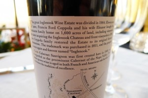 inglenook label back 300x200 Back side of Inglenook 2009 CASK Cabernet Sauvignon label