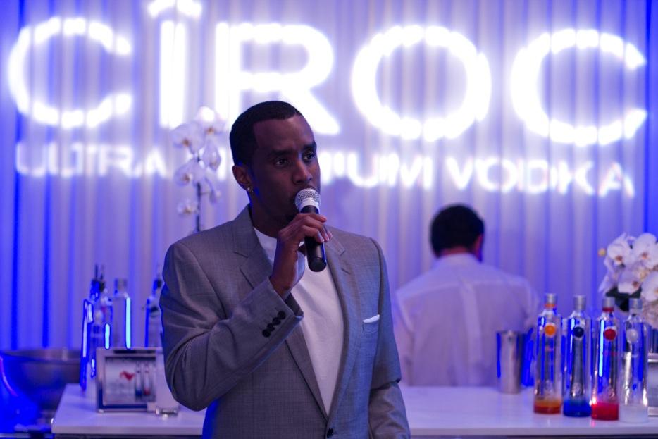 Sean John Combs, brand ambassador for Ciroc Vodka