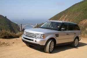Driving up the coast in a Land Rover