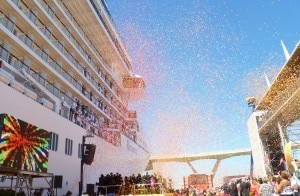 Christening Riviera Cruise Ship Barcelona