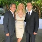 Mayor Richard Bloom and David Martinon with Sophie Gayot