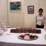 Ferrero chocolate tasting station
