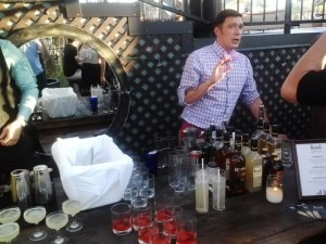 Jared Schubert describing his cocktails