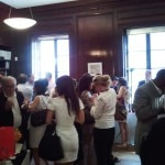 Mingling at the Italian Trade Commission in New York