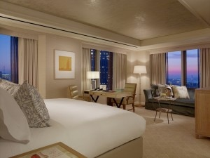 Newly renovated guest room at Mandarin Oriental, San Francisco