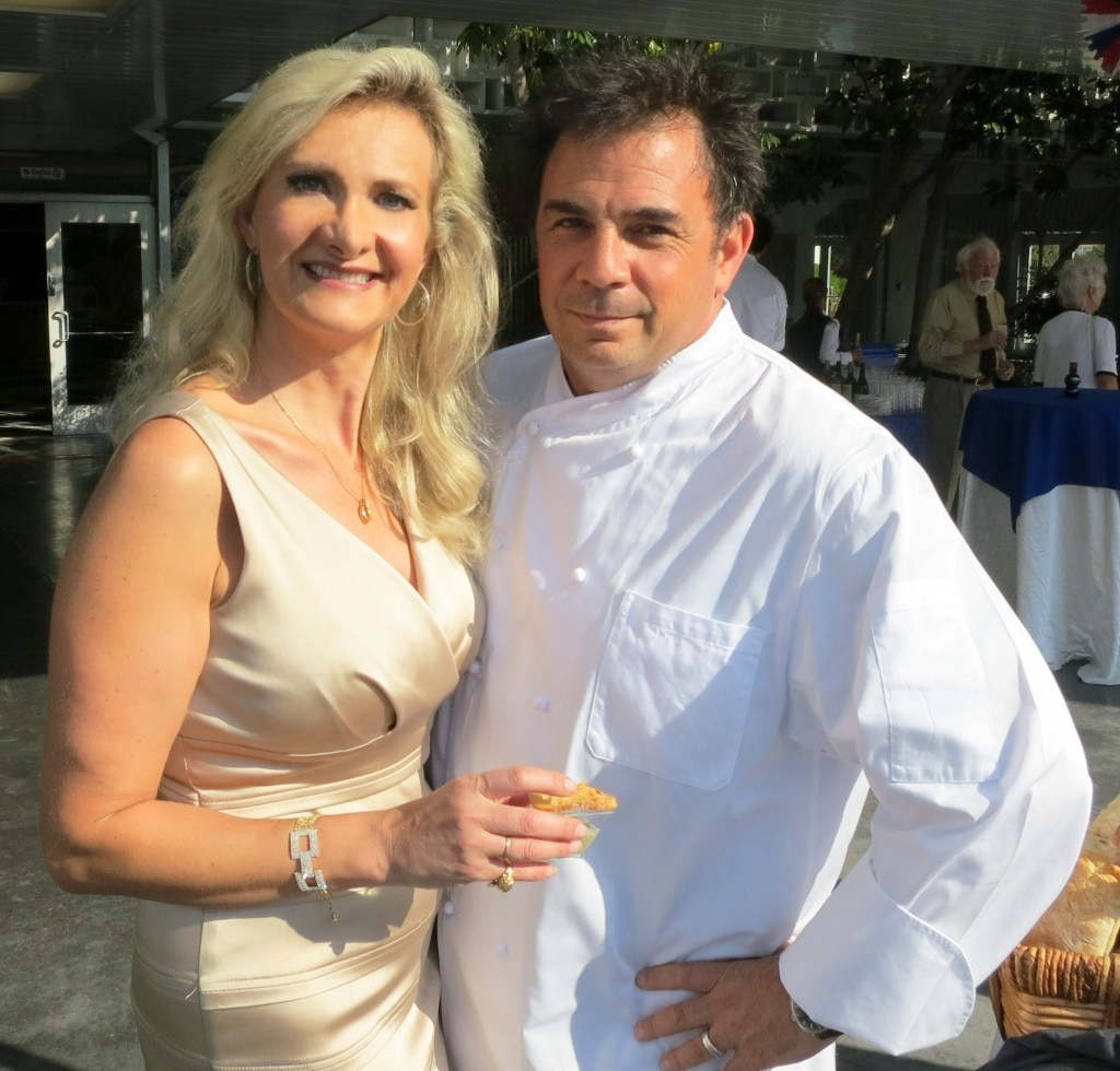 Chef Josiah Citrin with Sophie Gayot