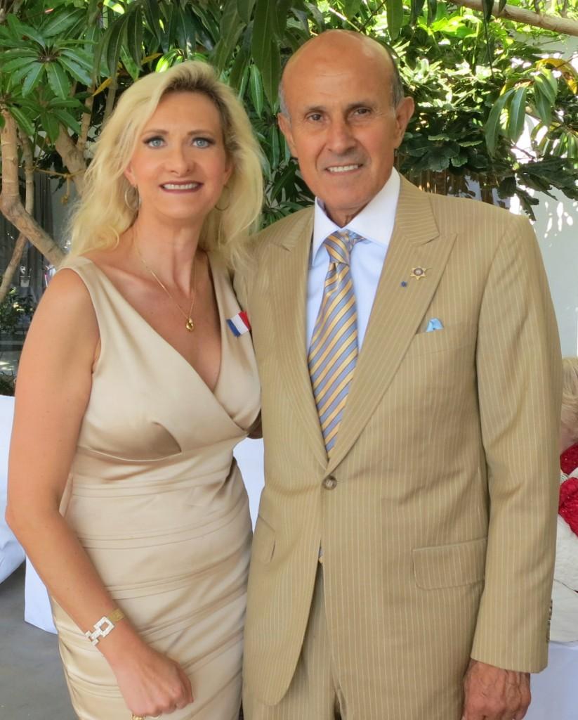 Lee Baca with Sophie Gayot