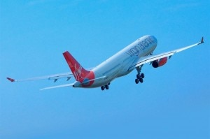 Virgin Atlantic A330 taking off