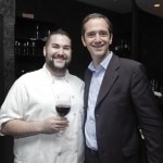 Chef David Gussin with winemaker Manuel Louzada
