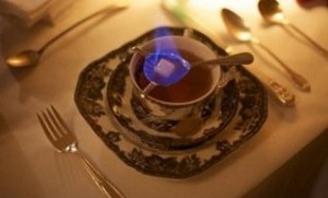Flaming tea