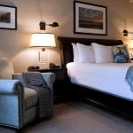 A guest room at North Block Hotel in Yountville, CA