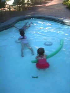 Kids enjoying the kiddie pool at Park Hyatt Aviara