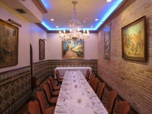 The Sancho dining room