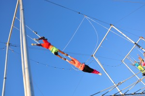 trapeze 300x199 Soaring & Sipping with FishEye Winery