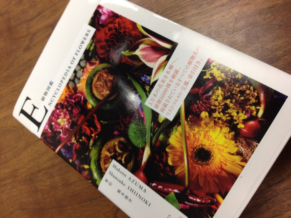 Photographs of Makoto Azuma's floral arrangements grace the pages of the Encyclopedia of Flowers