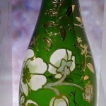 The bottle of Champagne Perrier-Jouët 2004 Belle Époque Florale Edition was designed by Japanese floral artist Makoto Azuma