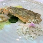 Black sea bass, crisp scale, giant and littleneck clams