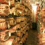 The dry aging room