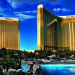The exterior of the Mandalay Bay Resort & Casino and THEhotel in Las Vegas