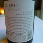 Galerie Naissance, a 2011 Sauvignon Blanc from Napa Valley