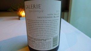 galerie label back 300x168 Galerie Naissance, a 2011 Sauvignon Blanc from Napa Valley