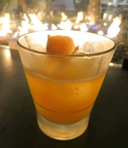 Hellfire: Anejo tequila, lemon juice, honey, habenero bitters, grapefruit peel