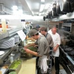 The Strand House restaurant kitchen