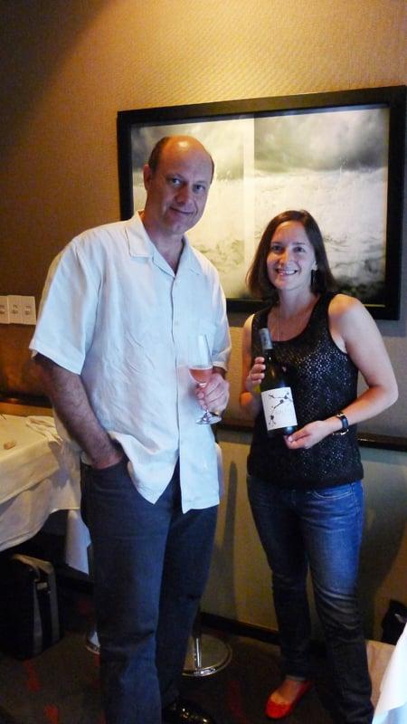 Winemaker Laura Díaz Muñoz with Alain Gayot