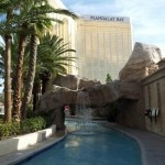 A view of Mandalay Bay Resort & Casino from the lazy river