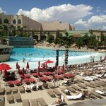 The beach at Mandalay Bay Resort & Casino in Las Vegas