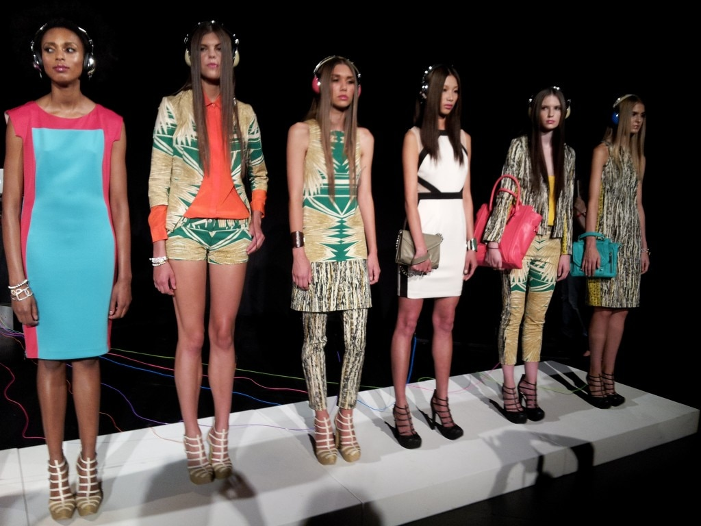 Island-inspired and tribal prints figure prominently in Baker's latest collection