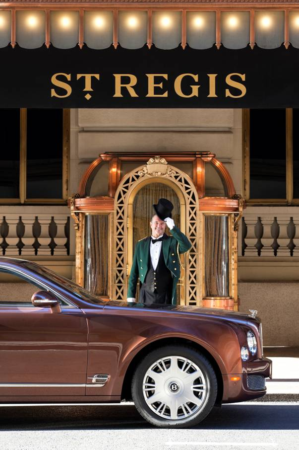 The 2013 Bentley Mulsanne Outside Of The St Regis New