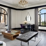 The spacious and chic living room of the Bentley Suite