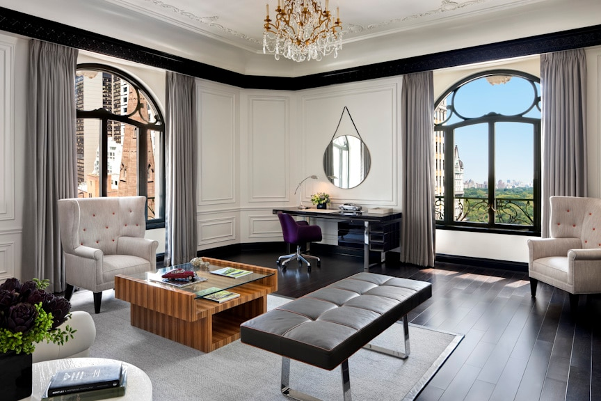 The Bentley Suite At St Regis New York Living Room