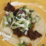 Adobo short rib taco from Public School