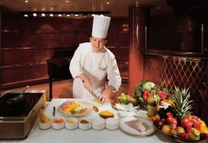 A Silversea Cruises cooking demonstration