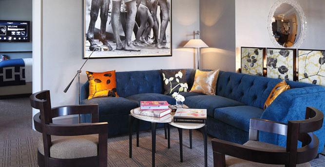 The Cosmopolitan Of Las Vegas Terrace Suite Living Room
