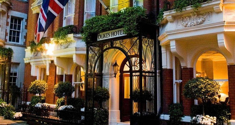 The Exterior Of Dukes Hotel In London
