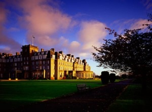 The exterior of The Gleneagles Hotel in Scotland