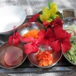 Ingredients for Tahitian raw fish