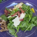 Insalata: mushrooms, duck bacon, pears, grana padano and argula from Matteo's